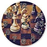 DoreenAbe Classic Wood Clock, Non Ticking Clock
