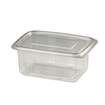 100 recipientes para alimentos de Pet: Bandejas rectangulares para alimentos de 500 cc + tapa