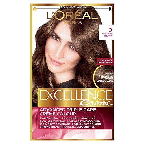 ロレアルの優秀さ - ナチュラルブラウン x4 - L'Oreal Excellence - Natural Brown (Pack of 4) [並行輸入品] B072DXLLZ1