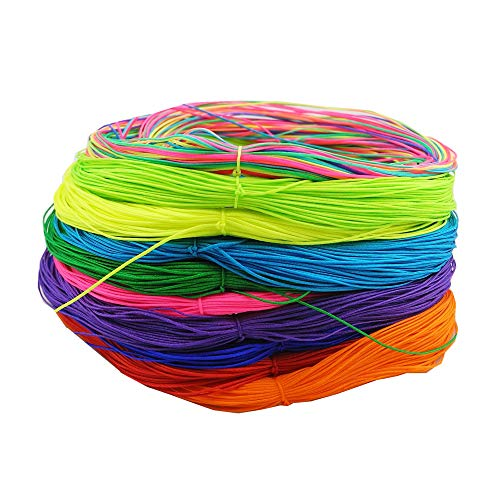 (Inspirelle 10-Color 0.5mm Nylon Beading String Knotting Cord, Chinese Knotting Cord Nylon Macrame Thread Beading Cord for DIY Jewellery Making (30M Each Color, Bright Colors))
