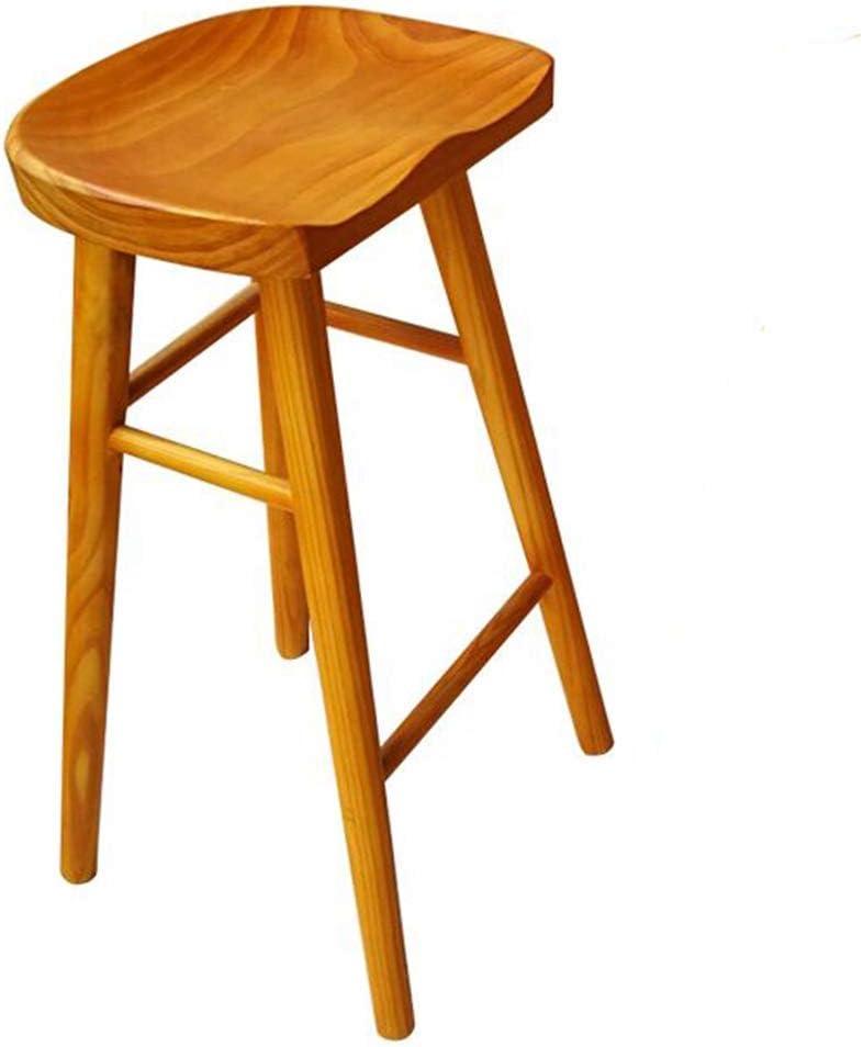 onbekend Barkruk, barstoel Bar-restaurant Ontbijtkruk Houten stoel Ergonomisch ontwerp Hoge kruk Leergewicht 200kg geel (Maat: 65CM) 75 cm.