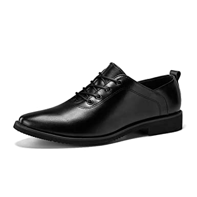 Gobling Mens Oxford Shoes Pointed Toe Lace up Casual Shoes for Formal Business Wedding Dress Shoes
