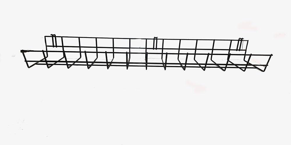 Kabeldurchführung Schreibtischdurchführung Alu 269mmx68mm Wire Organizer Silber
