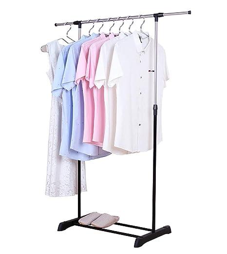 vestidores habitaciones guardarropa para tiendas Perchero de barra con ruedas de hierro cromado