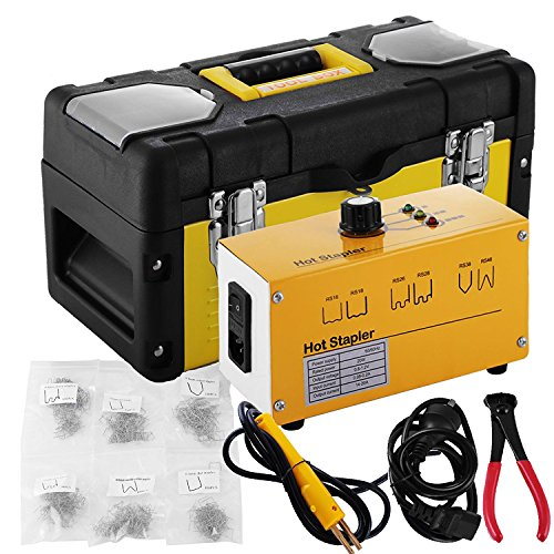 Go2Home Plastic Bumper Repair Kit Hot Stapler Plastic Welder Staple Gun with Welders Carry Box and Snips, Yellow 20W by Go2Home (Image #6)