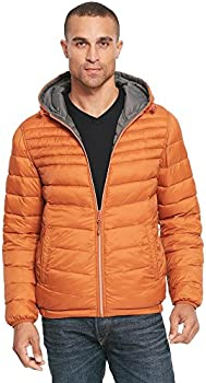 Web Buster Hooded Reversible Quilted Puffy Jacket