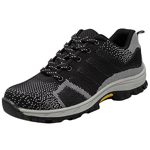 s1p Unisexes Respirant de Travail Chaussure Chaussures en avec Semelle de Protection Sécurité COOU Protection Embout Acier de de Et nxgq1Rtw