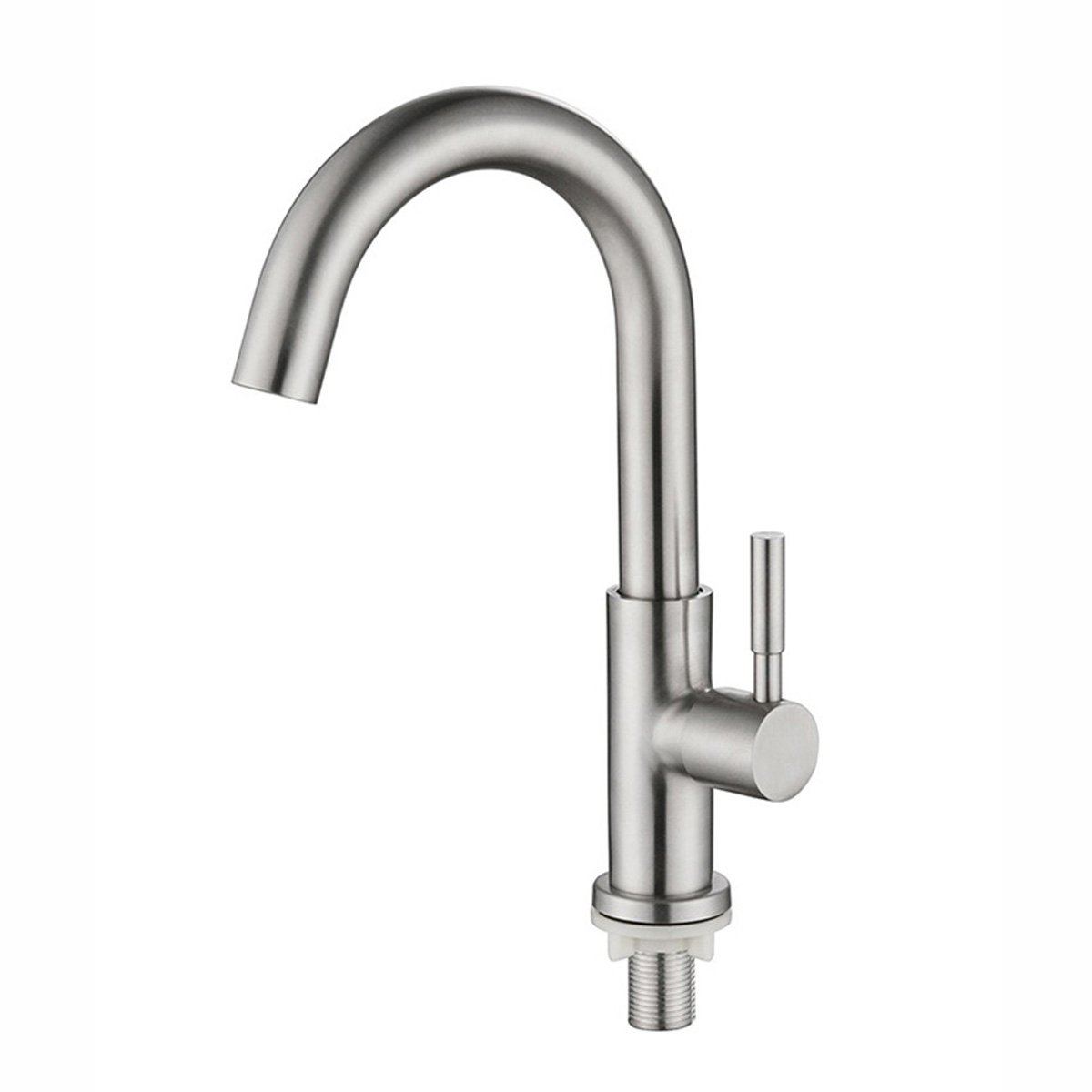 Brushed Nickel Kitchen Sink Faucet Single Cold Water Single Hole Bar Bathroom Laundry Room Faucets 304 Stainless Steel SSDLQ003-1