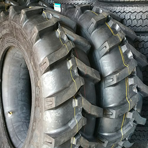 (2-TIRES) 13.6x28,13.6-28 10 PLY Tractor Tires W/TUBES 13628 by ROAD WARRIOR