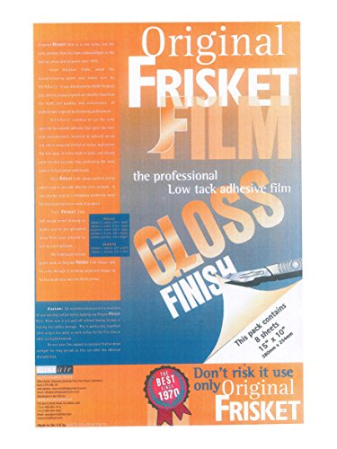 Original Frisket 15-Inch by 10-Inch Gloss Masking Sheets, 8-Pack