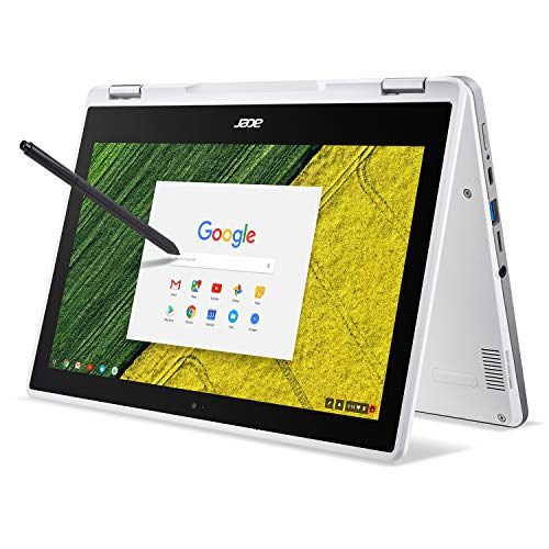 Acer Chromebook Spin 11 Convertible Laptop, Celeron N3350, 11.6″ HD Touch, 4GB DDR4, 32GB Storage, Wacom EMR Pen, Pearl White, CP511-1HN-C7Q1