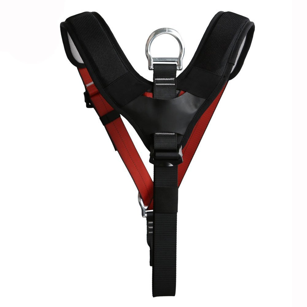 Geelife The Upper Body Climbing Harness All Matched Top Chest Strap for Outdoor Tree Work Climbing Mountaineering Outward Band Expanding Training Caving Rock Climbing Rappelling Equipment
