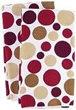 Ritz Royale Collection Microfiber Polka Dot Print Towel Set, Paprika, 2-Piece