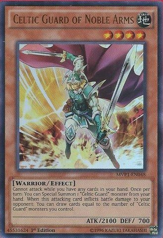 Yu-Gi-Oh! - Celtic Guard of Noble Arms (MVP1-EN048) - The Dark Side of Dimensions Movie Pack - 1st Edition - Ultra -