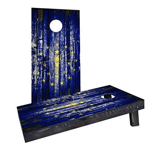 100 %品質保証 Custom Cornhole Boards CCB1501-2x4-AW-RH Boards Wooden Distressed CCB1501-2x4-AW-RH State Flag (Indiana) (Indiana) Cornhole Boards [並行輸入品] B07HLGLHY1, narcist animal:f39b8e08 --- martinemoeykens.com