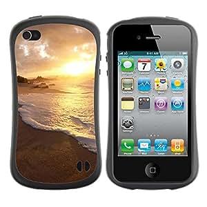 Pulsar iFace Series Tpu silicona Carcasa Funda Case para Apple iPhone 4 / iPhone 4S , Nature Water Sunset