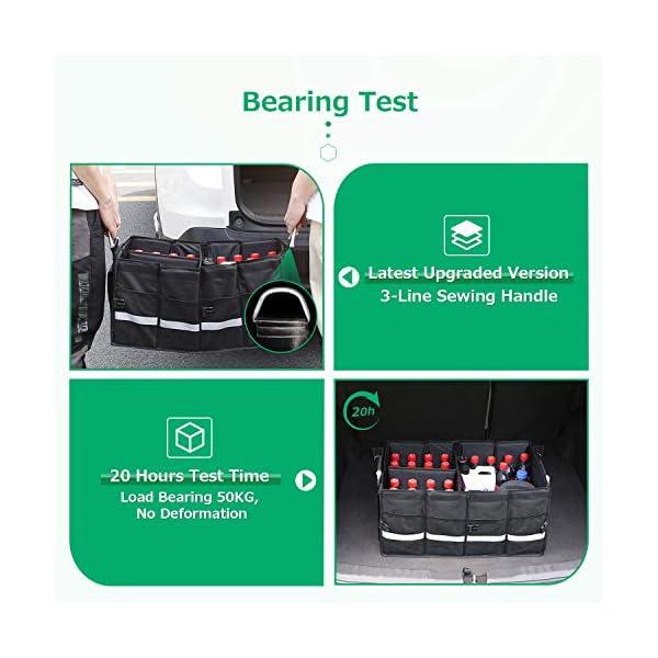 51tPZ5jECPL Oasser Kofferraumtasche Kofferraum-Organizer mit Deckel Auto Kofferraum Organizer Autotasche Auto Kofferraum Box…