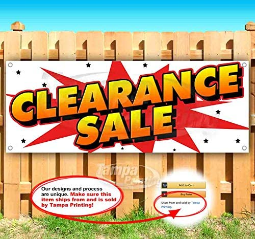 Advertising Warehouse Sale 13 oz Heavy Duty Vinyl Banner Sign with Metal Grommets New Store Flag, Many Sizes Available