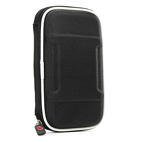 Travel Vape Case compatible with G Pen Herbal Vaporizer Grenco Snoop Dogg |SLIM BLACK NYLON SEMI-HARD SHELL| + Carabiner Hook for Easy Attachment