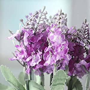Factory Direct Craft Group of 4 Orchid Purple Artificial Wildflower Bush Sprays for Home Decor, Crafting and Displaying 2