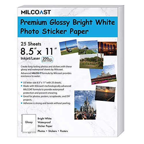 Milcoast Glossy Full Sheet 8.5