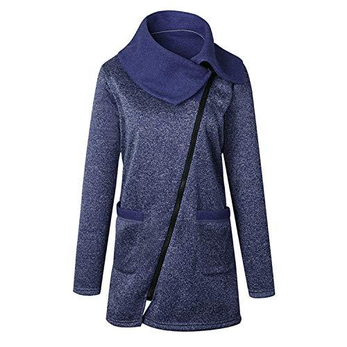 Comradesn Donna Giacche Vita E Caldo Con Pile Autunno Inverno Cappotti Giacca Blue In Abbigliamento Cerniera rrdq1w5Sx