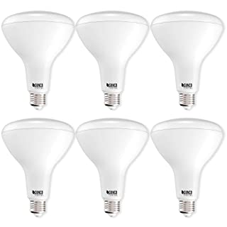 Sunco Lighting 6 Pack BR40 LED Bulb, 17W=100W, Dimmable, 3000K Warm White, E26 base, Indoor Flood Light for Cans - UL & Energy Star
