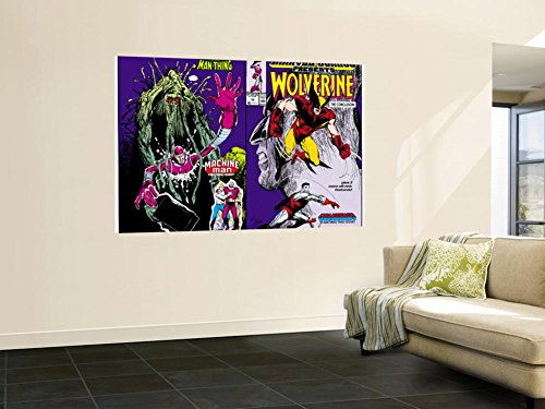 Marvel Comics Presents No.10 Cover: Wolverine, Colossus, and Spider-Man Jumping Wall Mural by John Buscema 48 x 72in