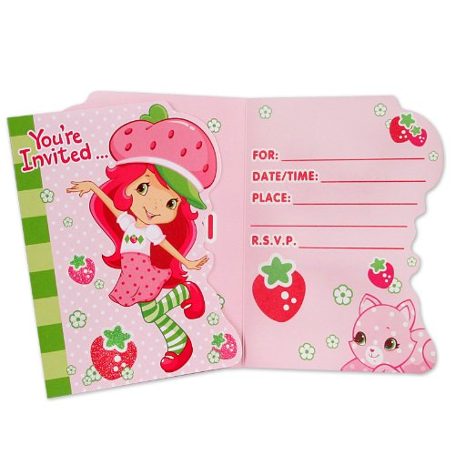Strawberry Shortcake Invitations w/ Envelopes (8ct)