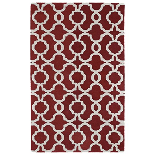 Kaleen Rugs Revolution Collection REV03-25 Red Hand Tufted 5' x 7'9