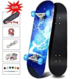 Best Beginner Skateboards - Chi Yuan Complete Skateboard with Colorful Flashing Wheels Review