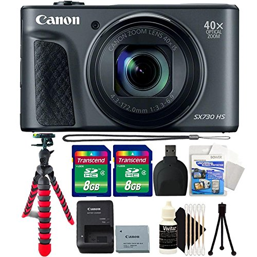 Cheap Canon Powershot SX730 HS Digital Camera (Black) with Accessory Bundle