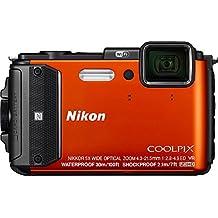 Nikon Coolpix AW130 16MP Waterproof Shockproof Digital Camera (Orange)(Certified Refurbished)