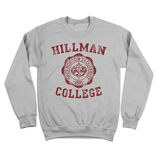 Funny Threads Outlet Hillman College University Seal School Costume Uniform Mens Sweatshirt XX-Large (Uniform Outlet Store)