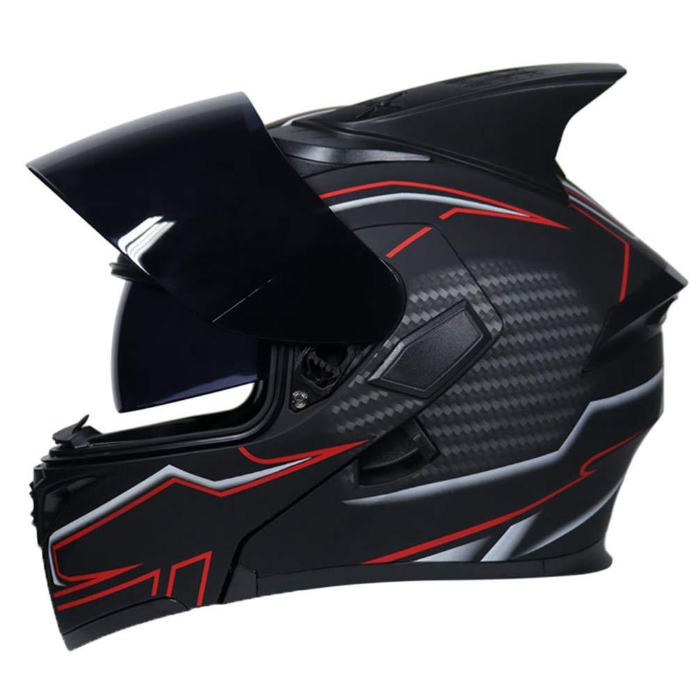 Adulto doppio Lense casco del motociclo protezione UV anti nebbia flip up caschi da moto per motocross racing moto Caps