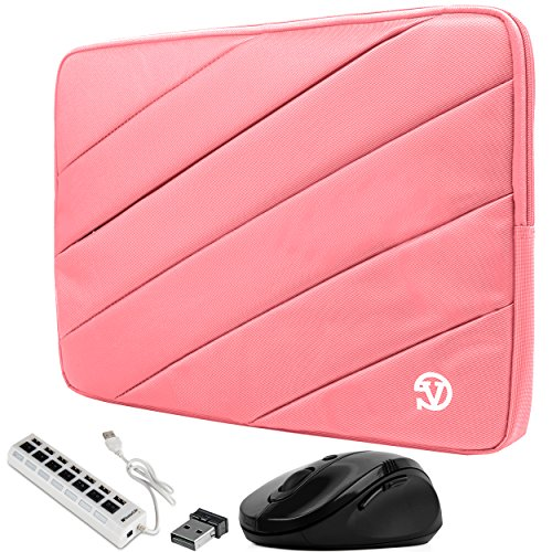 Mouse Pad Usb Hub (VanGoddy Light Pink Shock Absorbent Sleeve w/ 7-Port USB Hub & Mouse Fit for Lenovo Flex / IdeaPad / ThinkPad / Legion / Yoga 14