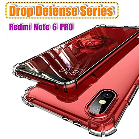 finest selection 02ef6 0425c LOKEZEEP Anti Drop Thermoplastic Polyurethane Back Cover for Xioami Redmi  Note 6 Pro with Screen and Camera Protection Bumper Corner (Transparent)