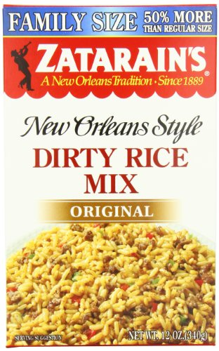 Zatarain's Dirty Rice Family Size, 12 oz (Case of 8)