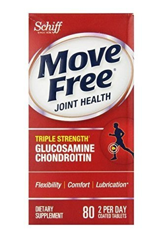 Move Free Advanced, 80 tablets - Joint Health Supplement with Glucosamine and Chondroitin (Pack of 5)
