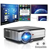 HD Multimedia Projector HDMI USB Multi-Screen Share LCD Video Projector for iPhone iPad Smartphone 1080P 720P Home Cinema Theater Games Parties Movie Night LED Proyector, Built-in Speaker