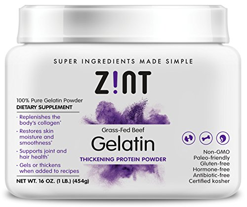 Unflavored Gelatin Powder (16 oz): Anti Aging Collagen Supplements, Protein, Paleo Friendly, Grass Fed Beef, Non GMO - Baking & Thickening - Beauty, Skin, Hair & Nails
