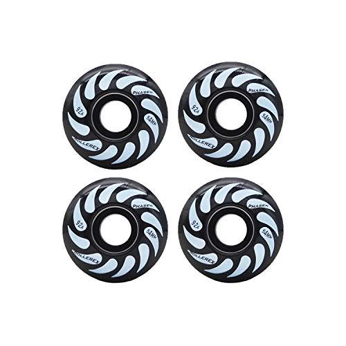 Rollerex Phaser 92A 54mm Skateboard Wheels (Steel Black, 54mm) ()