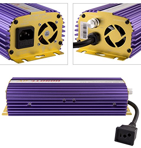 Apollo Horticulture APL600 Hydroponic 600 - Watt HPS MH Digital Dimmable Electronic Ballast for Grow Lights ()