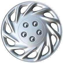 """Drive Accessories KT-858-17S/L, Ford Escort, 17"""" Silver Replica Wheel Cover, (Set of 4)"""