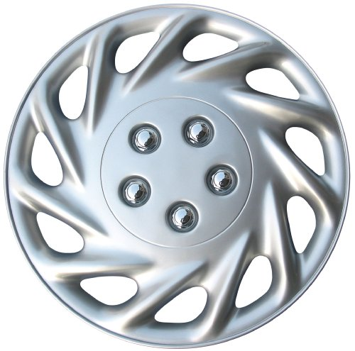 17 inch silver and black hubcaps - 5