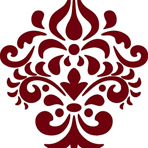 ANGDEST Damask Silhouette (Burgundy) (Set of 2) Premium Waterproof Vinyl Decal Stickers for Laptop Phone Accessory Helmet Car Window Bumper Mug Tuber Cup Door Wall Decoration (Damask Silhouette)