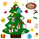 beautiful christmas decorations UMIKU Felt Toddlers 30pcs Ornaments DIY Tree Kids Xmas Gifts Year Home Door Wall Hanging Decorations Christmas Décor, 39.4 Inches, Multicolor