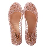 Lamdoo Ventilate Crystal Jelly Hollow Out Birds Nest Flat Sandal New Summer Beach Shoes Pink 39