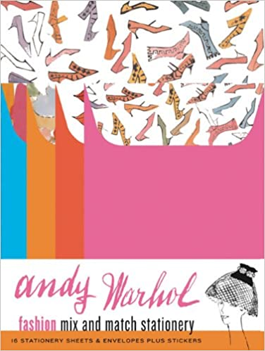 andy warhol fashion mix and match stationery