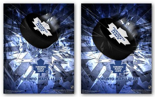 Toronto Maple Leafs Nhl - 3D Art Print Poster
